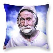Mr. Joseph Blue Pulaski Throw Pillow by Nicholas  Grunas