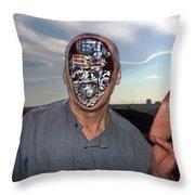 Mr. Robot-otto Throw Pillow by Otto Rapp