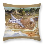 Mu Gia Mayhem Throw Pillow by Marc Stewart