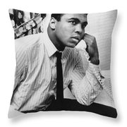 MUHAMMAD ALI (1942- ) Throw Pillow by Granger