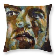 Muhammad Ali   Throw Pillow by Paul Lovering