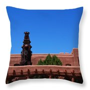 Museum Of Indian Arts And Culture Santa Fe Throw Pillow by Susanne Van Hulst