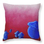 Mushroom Patch Throw Pillow by Jera Sky