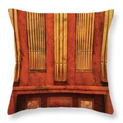 Music - Organist - Skippack  Ville Organ - 1835 Throw Pillow by Mike Savad