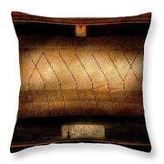 Music - Piano - Binary Code  Throw Pillow by Mike Savad