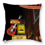 Music City Nashville Throw Pillow by Susanne Van Hulst