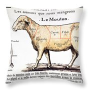 Mutton Throw Pillow by French School