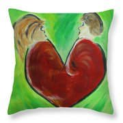 My Funny Valentine Throw Pillow by Donna Blackhall