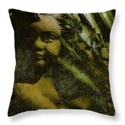 My Little Angel Throw Pillow by Susanne Van Hulst