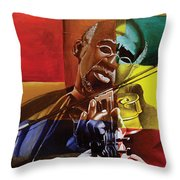 My Old Friend Throw Pillow by Stacy V McClain