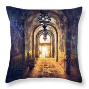 Mysterious Hallway Throw Pillow by Jill Battaglia