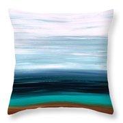 Mystic Shore Throw Pillow by Sharon Cummings