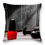 Nail Polish Throw Pillow by Olivier Le Queinec