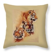Nanook Throw Pillow by Barbara Keith