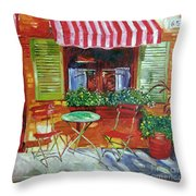 Napa Bistro Throw Pillow by David Lloyd Glover