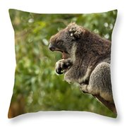 Naptime Throw Pillow by Mike  Dawson