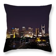 Nashville Cityscape 4 Throw Pillow by Douglas Barnett