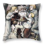 Nast: Christmas, 1879 Throw Pillow by Granger