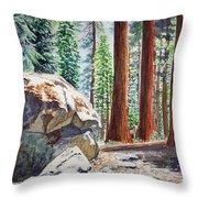 National Park Sequoia Throw Pillow by Irina Sztukowski