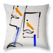 Native Americans Two Throw Pillow by Charles Stuart