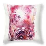 Nativity 5 Throw Pillow by Rachel Christine Nowicki