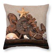Nautical Still Life Iv Throw Pillow by Tom Mc Nemar