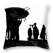 Navy Seals Hold An Inflatable Boat Throw Pillow by Michael Wood