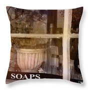 Need Soaps Throw Pillow by Susanne Van Hulst