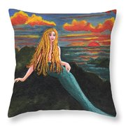 Neptune's Folly Throw Pillow by Patricia Griffin Brett