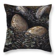 Nesting Throw Pillow by Adam Zebediah Joseph