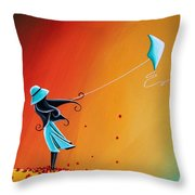 Never Let Go Throw Pillow by Cindy Thornton