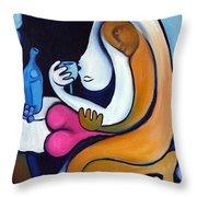 Never Tear Us Apart Throw Pillow by Valerie Vescovi
