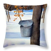 Nh Goldmine Throw Pillow by Sharon E Allen