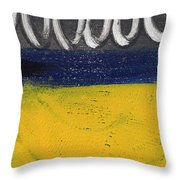 Night And Day Throw Pillow by Linda Woods