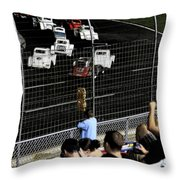 Night At The Races Throw Pillow by Karol  Livote