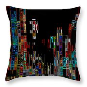 Night On The Town - Digital Art Throw Pillow by Carol Groenen