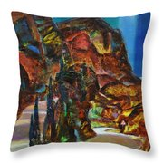 Night Serpentine Throw Pillow by Sergey Ignatenko