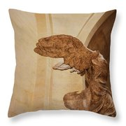 Nike Of Samothrace Throw Pillow by JAMART Photography