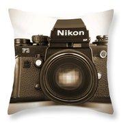 Nikon F3 Hp Throw Pillow by Mike McGlothlen