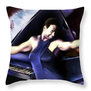 Nina - Feeling Good - Birds Flying High You Know How I Feel  Throw Pillow by Reggie Duffie