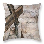 No Greater Love Throw Pillow by Chris Brandley