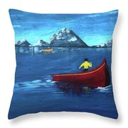 No Paddle Throw Pillow by Donna Blackhall