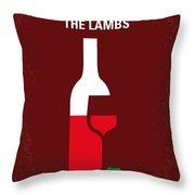 No078 My Silence Of The Lamb Minimal Movie Poster Throw Pillow by Chungkong Art
