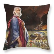 Noah's Ark Throw Pillow by James Edwin McConnell