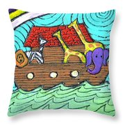 Noahs Ark Two Throw Pillow by Wayne Potrafka
