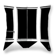 None More Black Throw Pillow by CML Brown