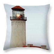 North Head Lighthouse - Ilwaco On Washington's Southwest Coast Throw Pillow by Christine Till