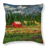 North Idaho Farm Throw Pillow by David Patterson