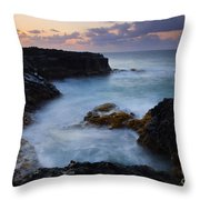 North Shore Tides Throw Pillow by Mike  Dawson