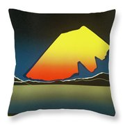 Northern Light. Throw Pillow by Jarle Rosseland